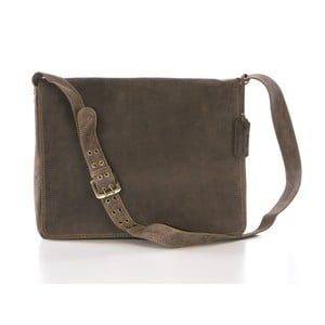 Hnedá kožená kabelka Gianni Conti Joanna