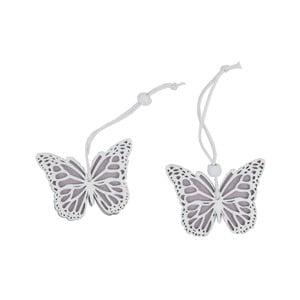 Sada 2 závesných dekorácií v tvare motýla Ego Dekor Fly