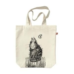 Plátenná taška Mačka na plote