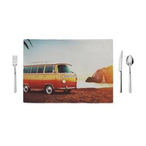 Prestieranie Home de Bleu Tropical Bus, 35 x 49 cm