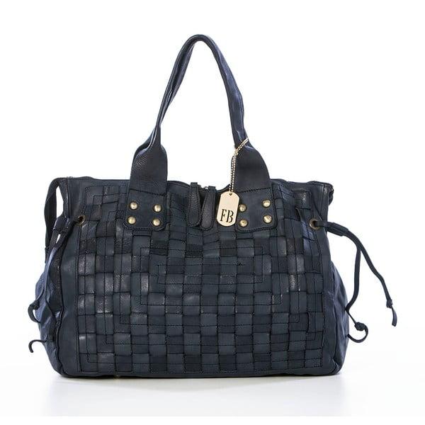 Čierna kožená kabelka Federica Bassi Ginny