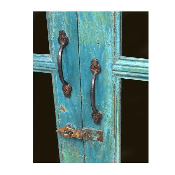 Presklená skriňa Goa 90x132 cm, modrá patina