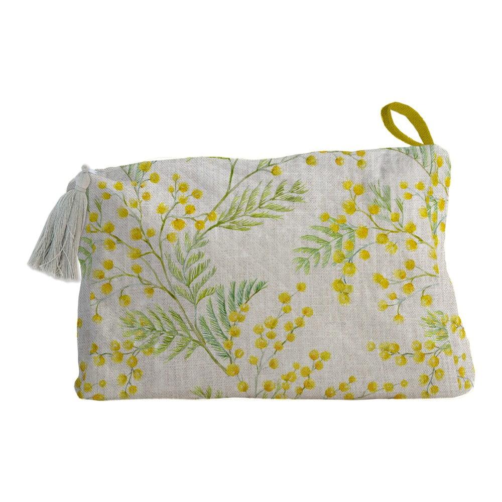 Látková kozmetická taštička Linen Couture Mimosa, šírka 50 cm