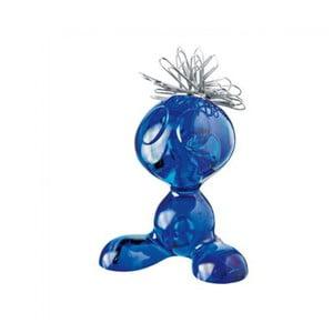 Modrý plastový stojan na kancelárské sponky Koziol