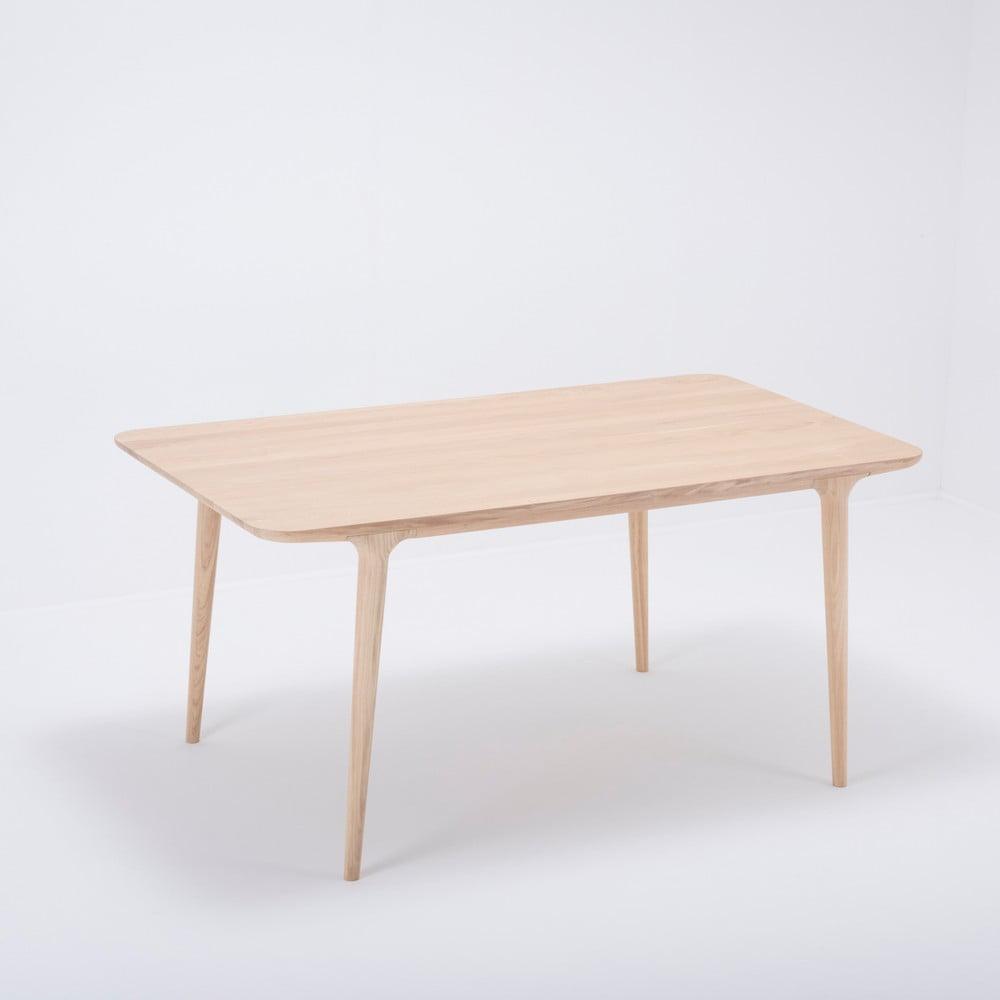 Jedálenský stôl z masívneho dubového dreva Gazzda Fawn, 160 × 90 cm