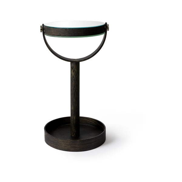 Stolové zrkadlo s poličkou Wireworks Magnify Dark