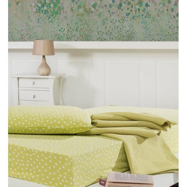 Prikrývka s plachtou a obliečkou na vankúš Sport Green, 160x230 cm