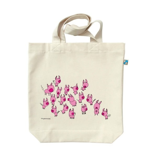 Plátenná taška Ružovkastí