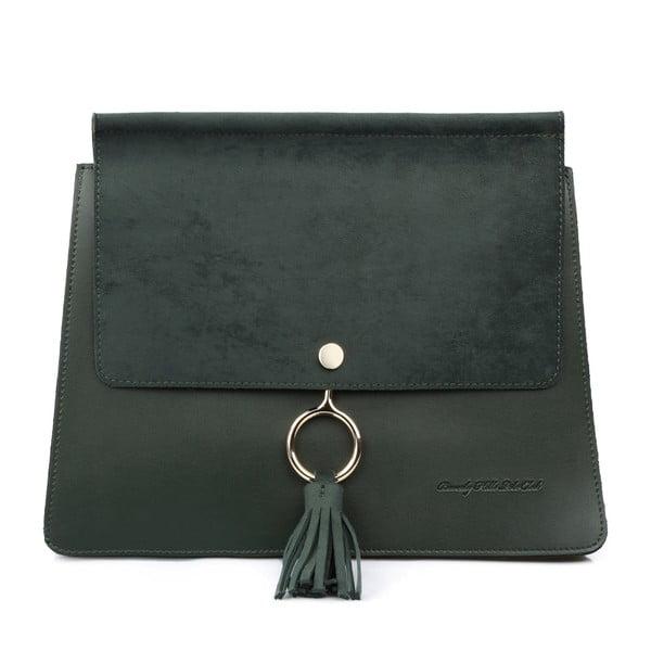 Zelená kabelka z eko kože Beverly Hills Polo Club Sylvia