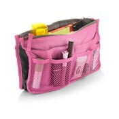 Ružový cestovný organizér s 9 vreckami Bonita