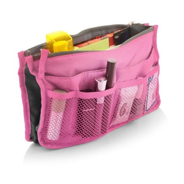 Ružový cestovný organizér so 7 vreckami Bonita