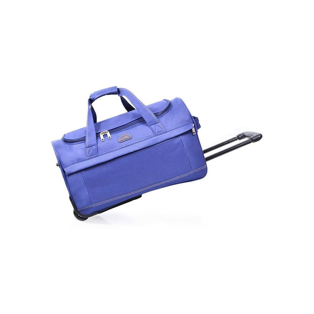 Modrá cestovná taška na kolieskach Hero Matilda, 43 l