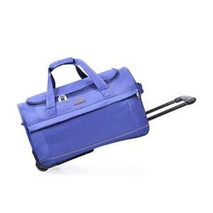 Modrá cestovná taška nakolieskach Hero, 43 l