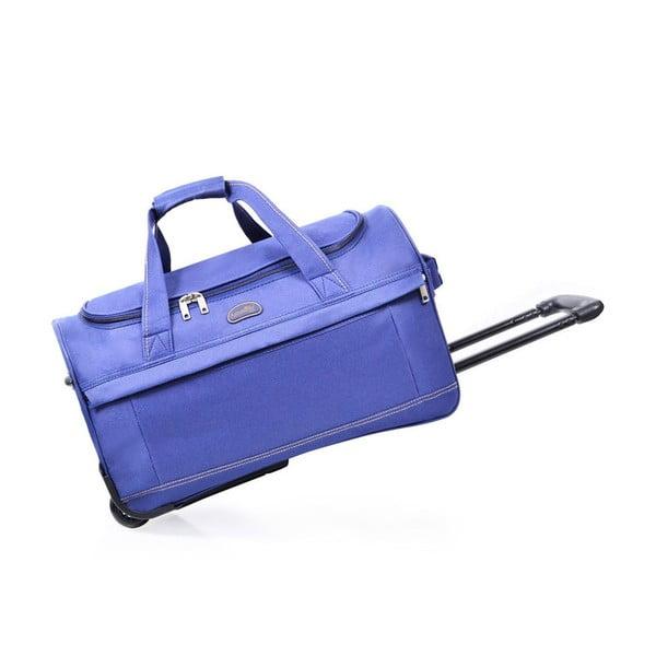 Modrá cestovná taška nakolieskach Hero, 83 l