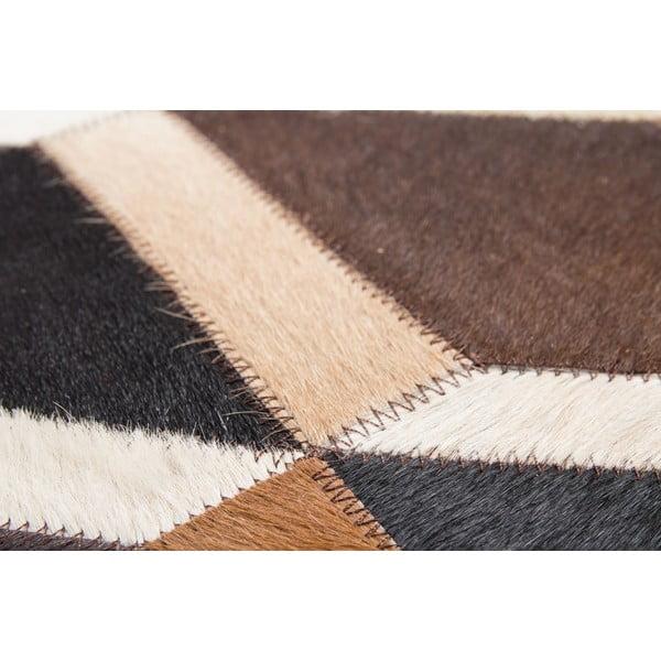 Kožený koberec Revolution Brown, 90x144 cm