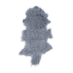 Tmavomodrá ovčia kožušina s dlhým vlasom Hyggur, 85 x 50 cm