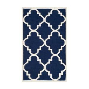 Modrý vlnený koberec Safavieh Alameda, 91 x 152 cm
