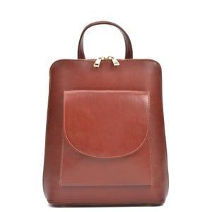 Hnedý kožený batoh Anna Luchini Songe