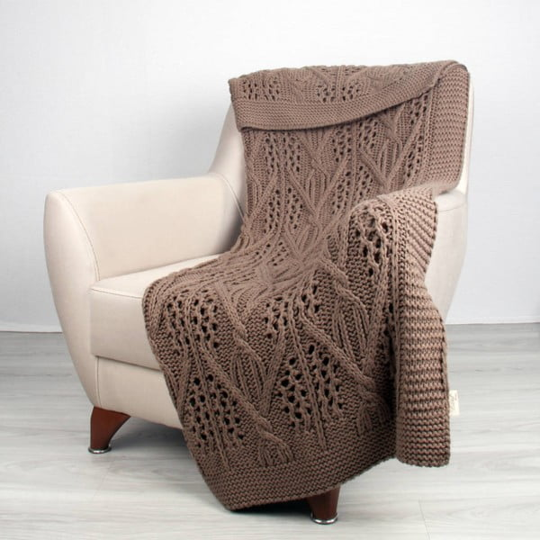 Hnedá deka Homemania Tuti, 170 x 130 cm