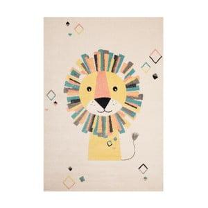 Béžovokrémový detský hnedý koberec Zala Living Lion, 120×170cm