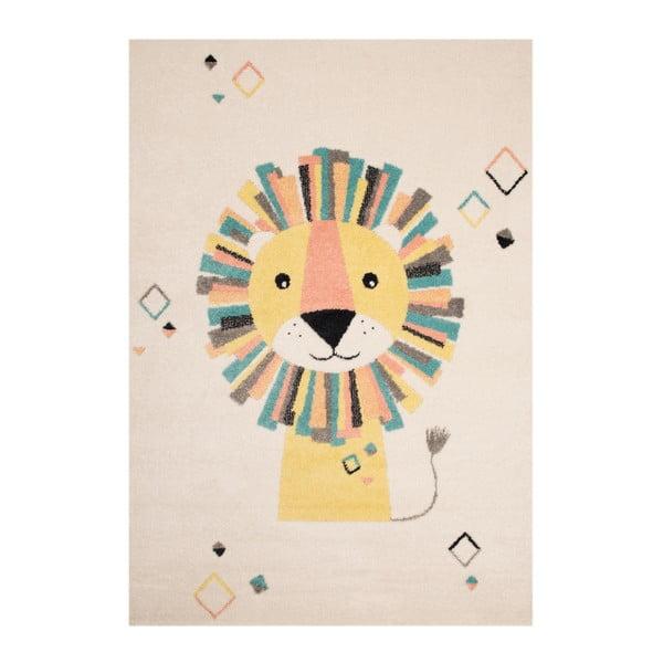 Béžovokrémový detský koberec Zala Living Lion, 120×170cm