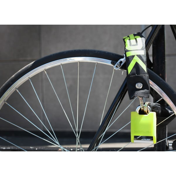 Zámok na bicykel Hiplok V1.5, black/reflective/green