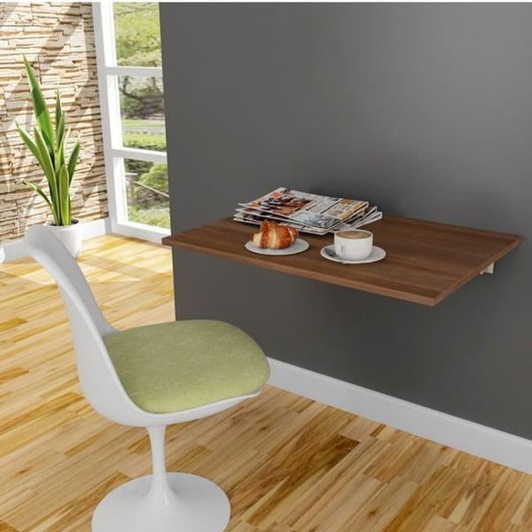 Stôl na stenu Krizantem Walnut