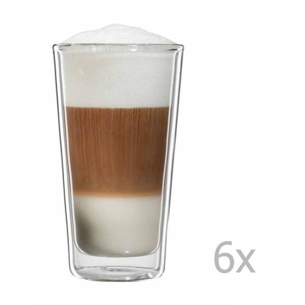 Sada 6 pohárov na latte macchiato bloomix Milano