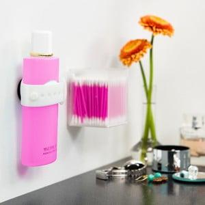 Sada 2 bielych magnetických držiakov na šampón či sprchový gél Reenbergs