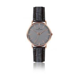 Pánske hodinky s čiernym remienkom z pravej kože Frederic Graff Rose Eiger Croco Black Leather