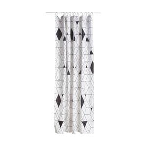 Čierno-biely sprchový záves Zone Harlequin