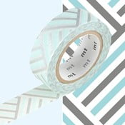 Strieborno-modrá washi páska MT Masking Tape Izumi