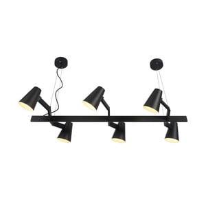 Čierne závesné svietidlo pro 6 žárovek Citylights Biarritz