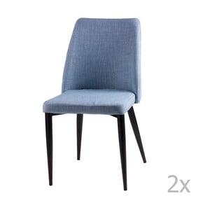 Sada 2 svetlomodrých jedálenských stoličiek sømcasa Melissa