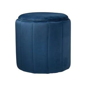 Modrá čalúnená stolička Native Mystique, ⌀43 cm