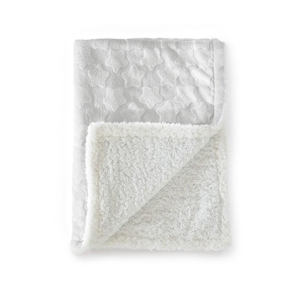 Sivá detská deka z mikrovlákna Tanuki Estrellas, 80 × 110 cm
