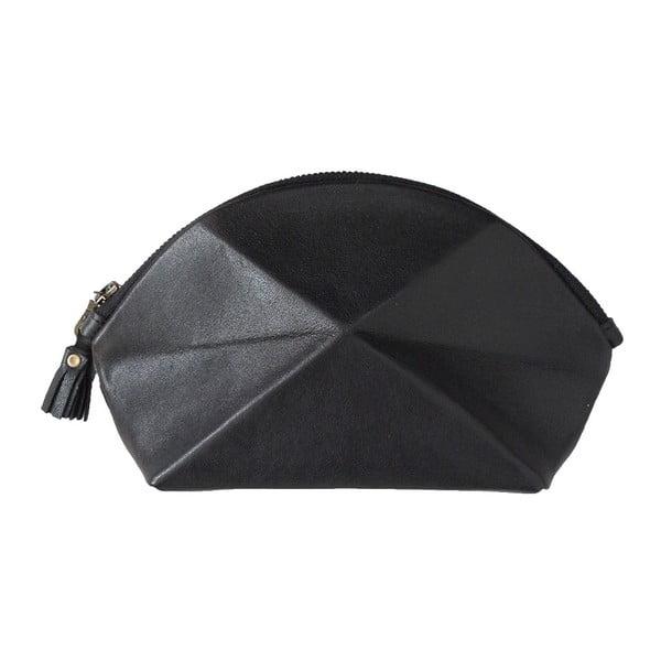 Listová kabelka/kozmetická taška Pyramid, čierna