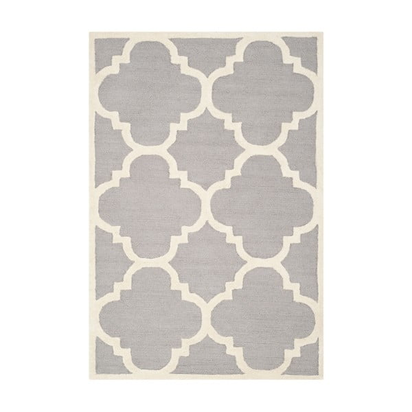 Vlnený koberec Clark Grey, 91x152 cm