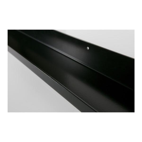 Čierna nástenná polica na fotografie WOOOD Ravi, dĺžka 120cm