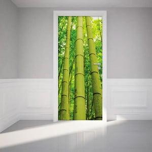 Adhezívna samolepka na dvere Ambiance Bamboo