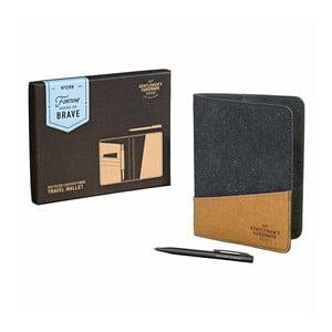 Cestovná peňaženka na doklady z recyklovanej kože Gentlemen's Hardware Travel Wallet