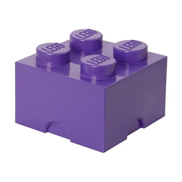 Fialový úložný box štvorec LEGO®