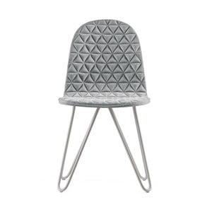 Sivá stolička s kovovými nohami IKER Mannequin X Triangle