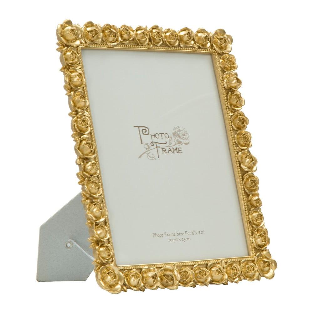 Stolový fotorámik v zlatej farbe Mauro Ferretti Rose, 20 × 25 cm