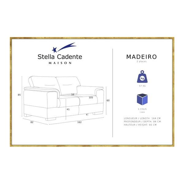 Modrá dvojmiestna pohovka Stella Cadente Maison Madeiro