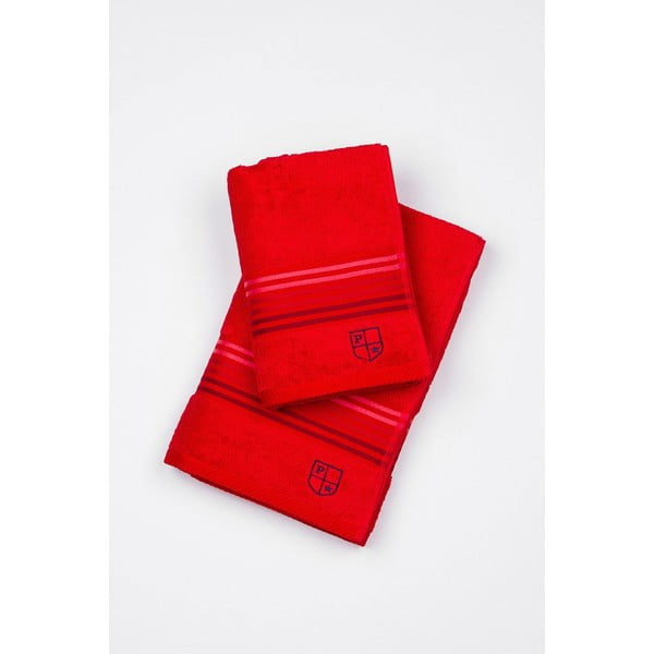 Sada 2 osušiek US Polo Assn. Red, 50 x 100 a 70x140 cm
