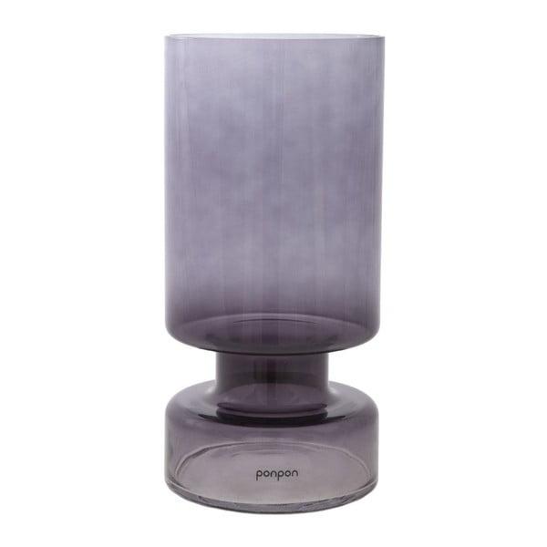 Váza/svietnik Delhi 31 cm, sivá