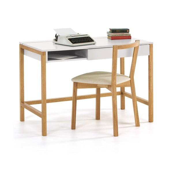 Pracovný stôl s bielou doskou Woodman NorthGate