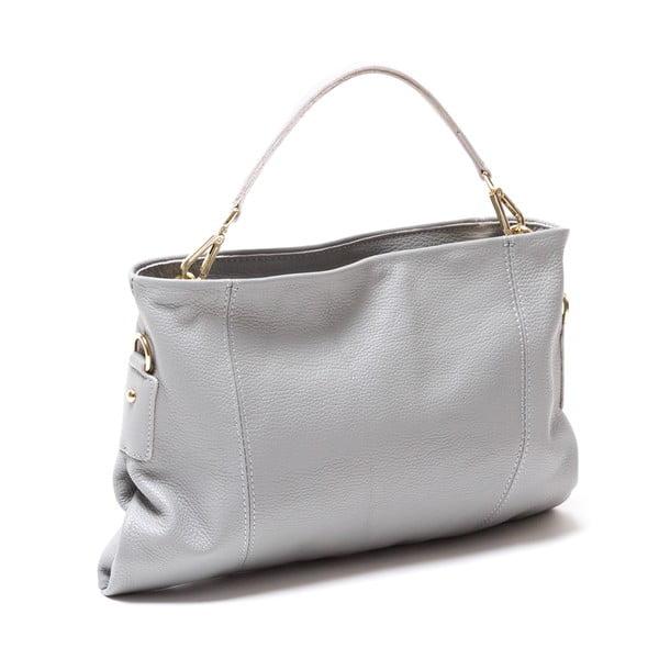 Kožená kabelka Caprice, sivá