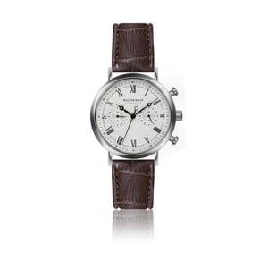 Pánske hodinky s hnedým remienkom z pravej kože Walter Bach Bunny